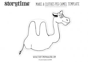 storytime_kids_magazines_free_printables_clothes_peg_camel_www.storytimemagazine.com/free-downloads