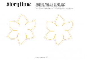 storytime_kids_magazines_free_printables_daffodil_templates_www.storytimemagazine.com/free-downloads