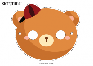 storytime_kids_magazines_free_printables_goldilocks_bears_masks_www.storytimemagazine.com/free-downloads