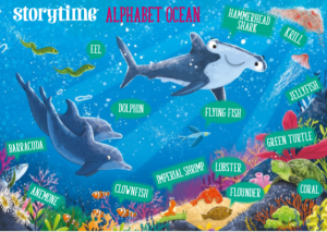 storytime_kids_magazines_free_printables_ocean poster_www.storytimemagazine.com/free-downloads