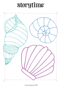 storytime_kids_magazines_free_printables_seashell_colouring_www.storytimemagazine.com/free-downloads