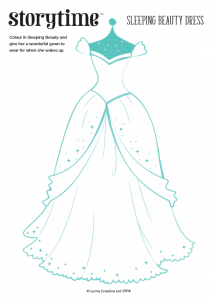 storytime_kids_magazines_free_printables_sleeping_beauty_dress_colouring_www.storytimemagazine.com/free-downloads