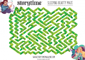 storytime_kids_magazines_free_printables_sleeping_beauty_maze_www.storytimemagazine.com/free-downloads