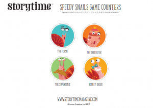 storytime_kids_magazines_free_printables_snail_game_counters_www.storytimemagazine.com/free-downloads