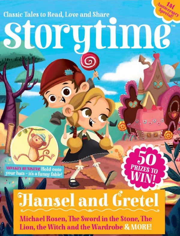 Storytime_kids_magazines_Issue13_Front_Cover_Hansel_and_Gretel_stories_for_kids_www.storytimemagazine.com