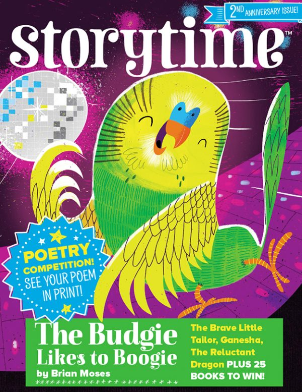 storytime_kids_magazines_issue25_the_budgie_likes_to_boogie_www.storytimemagazine.com, kids magazine subscriptions, poetry for kids, national poetry day