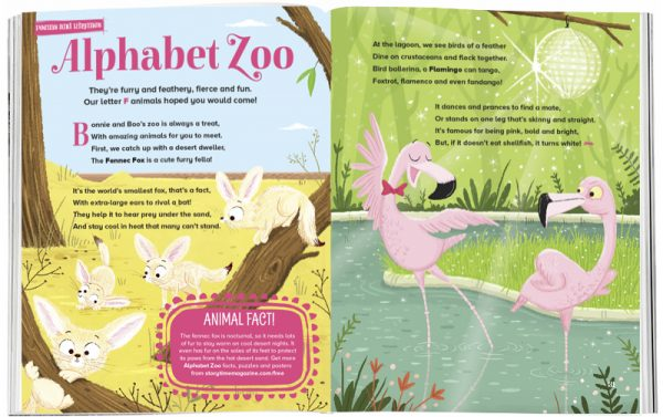 Storytime_kids_magazines_Issue33_alphabet_zoo_F_stories_for_kids_www.storytimemagazine.com