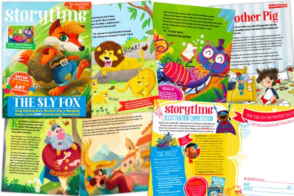 kids magazine subscriptions, storytime, magazines for kids, magazine subscriptions for kids, UK's only story magazine