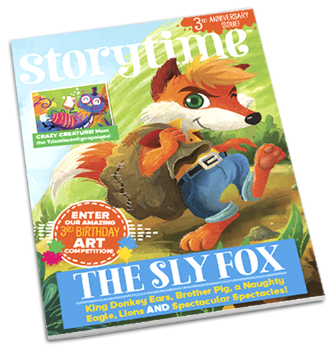 Storytime_kids_magazines_issue37_Sly_Fox_Current_issue_www.storytimemagazine.com