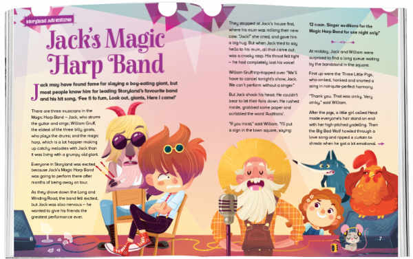 Storytime_kids_magazines_Issue51_Jacks_Magic_Harp_Band_stories_for_kids_www.storytimemagazine.com
