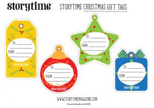 storytime kids magazine xmas gift tags_www.storytimemagazine.com/free-downloads