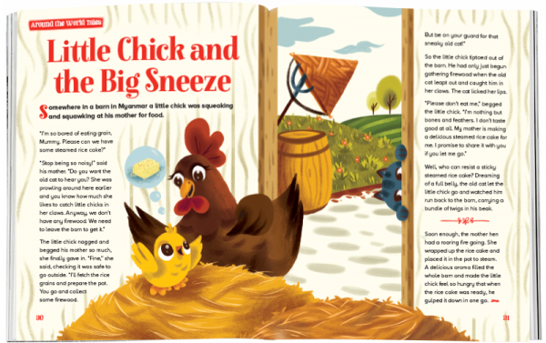 Storytime_kids_magazines_Issue53_Little_Chick_Big Sneeze_stories_for_kids_www.storytimemagazine.com