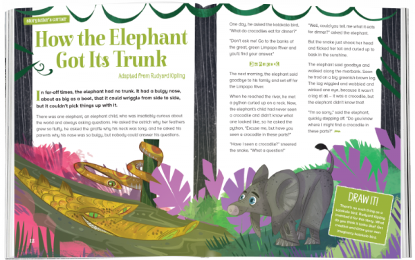 Storytime_kids_magazines_Issue55_how_the_elephant_got_its_trunk_stories_for_kids_www.storytimemagazine.com