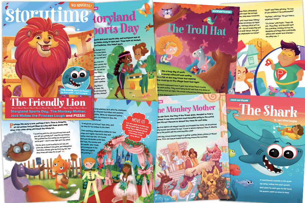 Storytime Issue 59, Kids magazine subscriptions, Androcles and the Lion