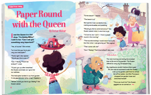 Storytime_kids_magazines_Issue61_paper_round_wiith_the_queen_stories_for_kids_www.storytimemagazine.com