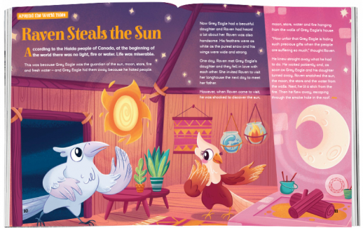 Storytime_kids_magazines_Issue61_raven_steals_the_sun_stories_for_kids_www.storytimemagazine.com