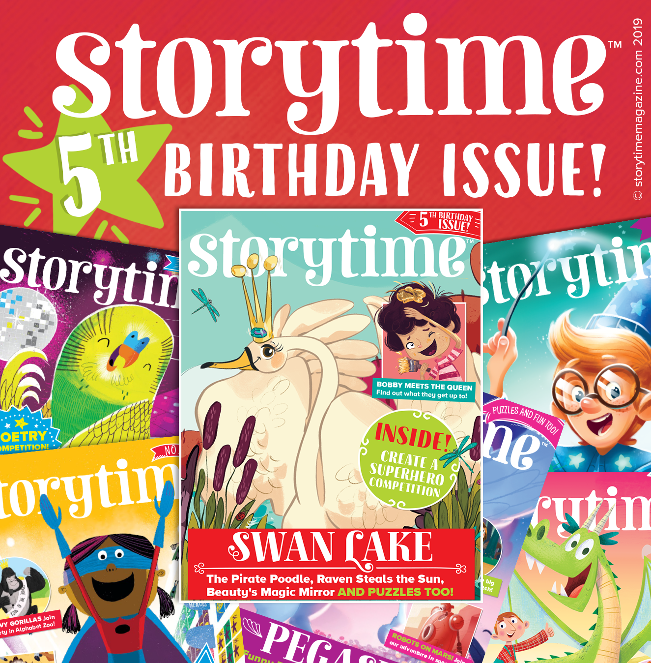 Storytime Issue 61, 5th birthday issue, Swan lake