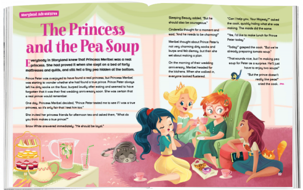 Storytime_kids_magazines_Issue63_princess_and_the_pea_soup_stories_for_kids_www.storytimemagazine.com