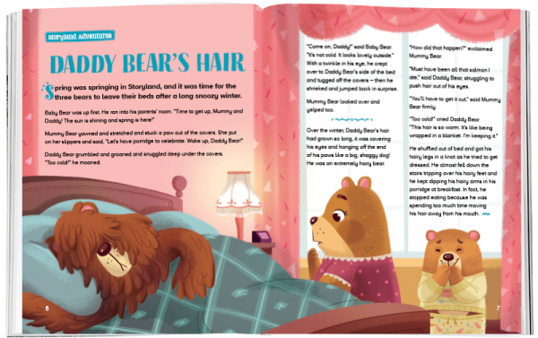 Storytime_kids_magazines_Issue67_daddys_bear_hair_stories_for_kids_www.storytimemagazine.com