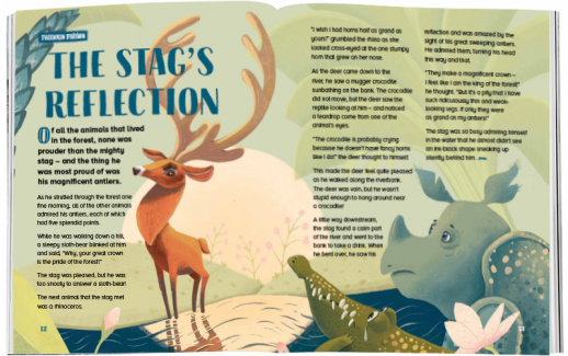 Storytime_kids_magazines_Issue74_the_stags_reflection_stories_for_kids_www.storytimemagazine.com