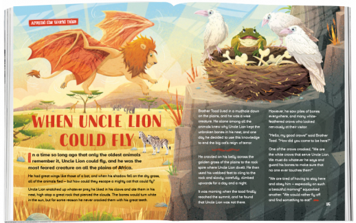 Storytime_kids_magazines_issue77_When_Uncle_Lion_Could_Fly_www.storytimemagazine.com