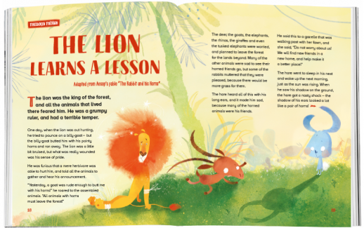 Storytime_kids_magazines_issue78_thelion_learns_alesson_www.storytimemagazine.com